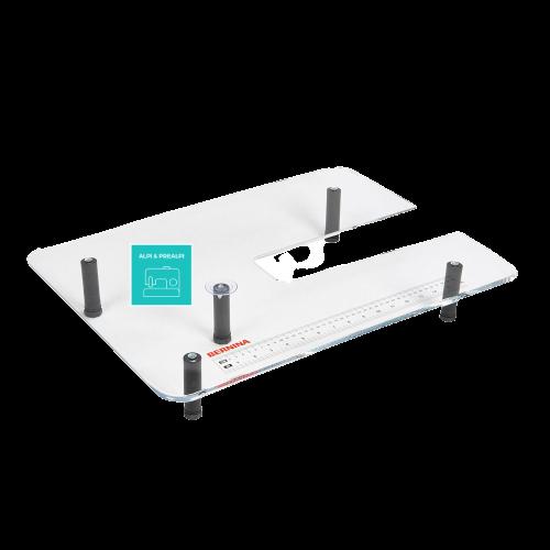 Piano supplementare di plexiglas per il modulo di ricamo